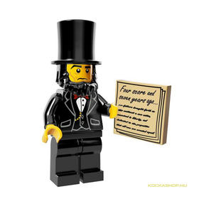 Abraham Lincoln minifigura, 71004 The Lego Movie